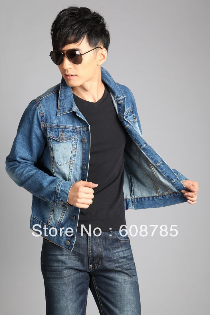 >> Click to Buy << jeans jacket  mens denim jacket coat wild men washed white tops denim coat vintage long-sleeve jacket jean jacket navy blueH401 #Affiliate