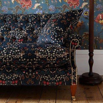Engelska Tapetmagasinet - tyger - sammet - sammetstyg - william morris - House of Hackney - Blackthorn