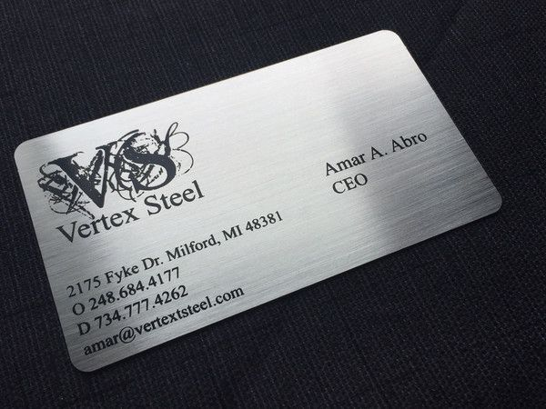 steel company metal business cards