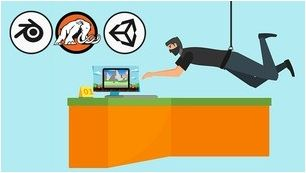 Watch Now: Make your first 2D & 3D games in Unity & Blender; Makefirstgames in Unity Blender