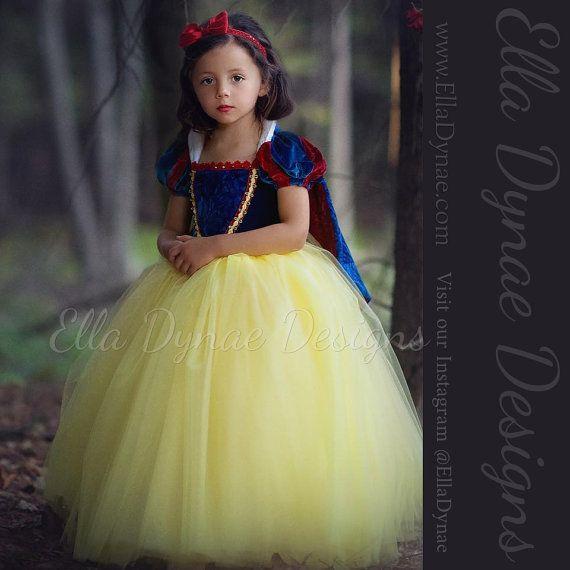 Nieve blanca vestido Disfraz princesa vestido por EllaDynae en Etsy