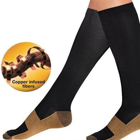 747f8ae415dde Unisex Anti-Fatigue Compression Men Socks Foot Pain Relief Miracle Copper  Women Marvel Socks Support Knee High Stockings Meias