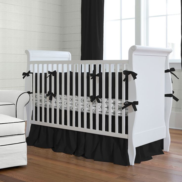 Solid Black Baby Crib Bedding Collection Carousel Designs