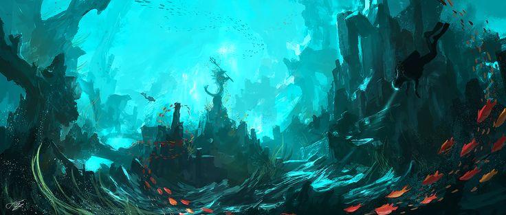 Underwater temple by tnounsy.deviantart.com on @deviantART