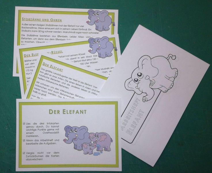 elefantenkartei und arbeitsheft fächerübergreifend