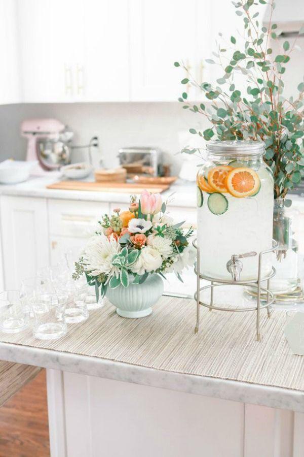 white + gray chic kitchen
