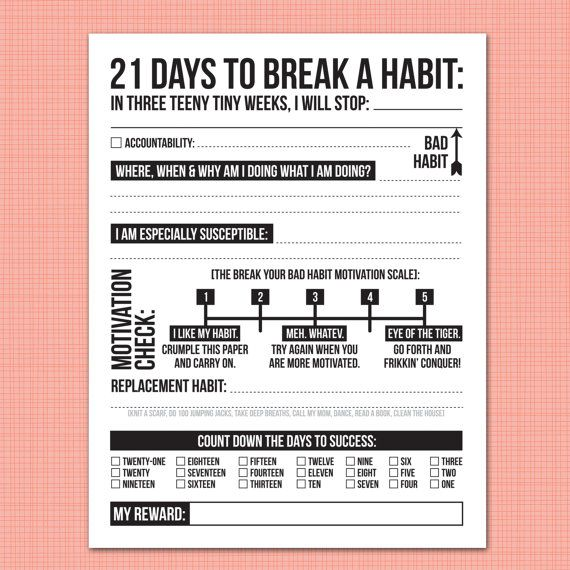 breaking a bad habit essay Bad habits are hard to break, but only because most people go about it the wrong  way.