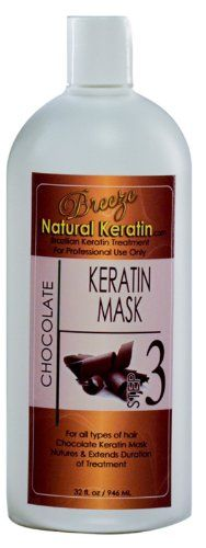 Brazilian Hair Treatment Chocolate Mask 32 oz - Step 3 by Breeze Natural Keratin ** Want to know more, click on the image.