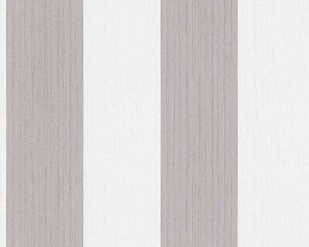 Esprit Tapete   Woods Streifentapete Braun Weiß   Esprit 10 Tapeten  Kollektion Tapete Mit Struktur Pictures