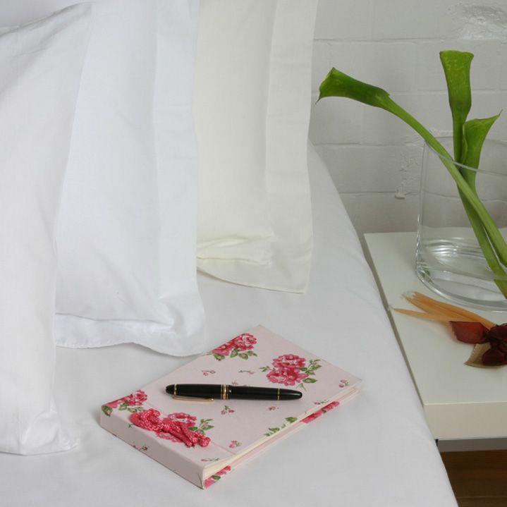 Taie d'oreiller entretien facile en percale de polycoton (80 fils)