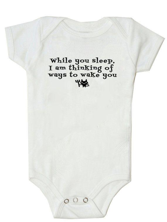 Funny Baby Onesie Funny Bodysuit While You Sleep...... Baby boy onesie baby girl onesie