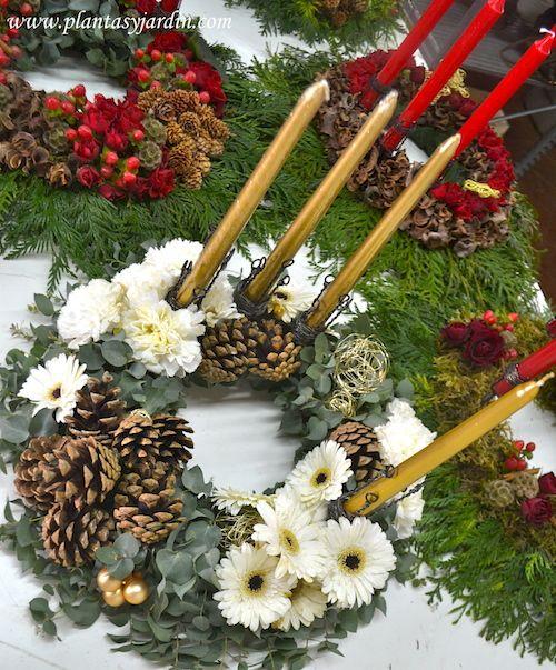 17 best ideas sobre guirnalda del advenimiento de - Como decorar la corona de adviento ...