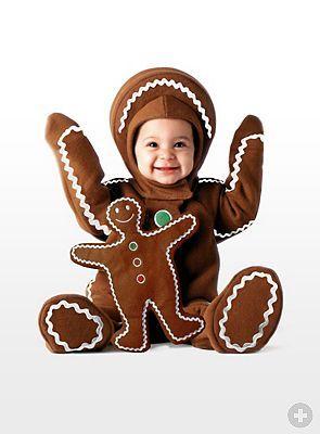 Pfefferkuchenkostüm für Babys