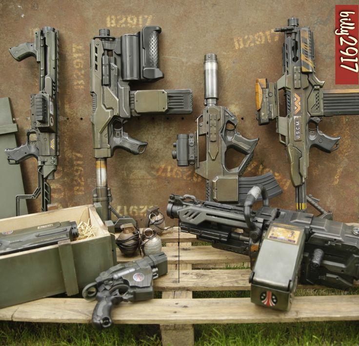 colonial marines guns by billy2917.deviantart.com on @DeviantArt