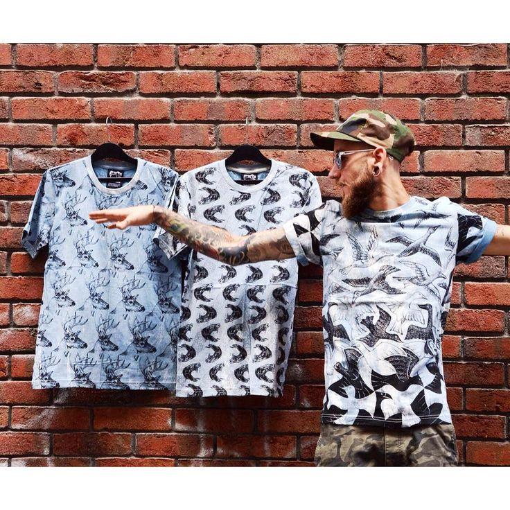 Pattern overdose  Awesome animal print batik men's t-shirt collection   #szputnyikshop #szputnyik #budapest   #snake #bird #deer #pattern #stonewashed #tees #tattooed #bearded #streetstyle