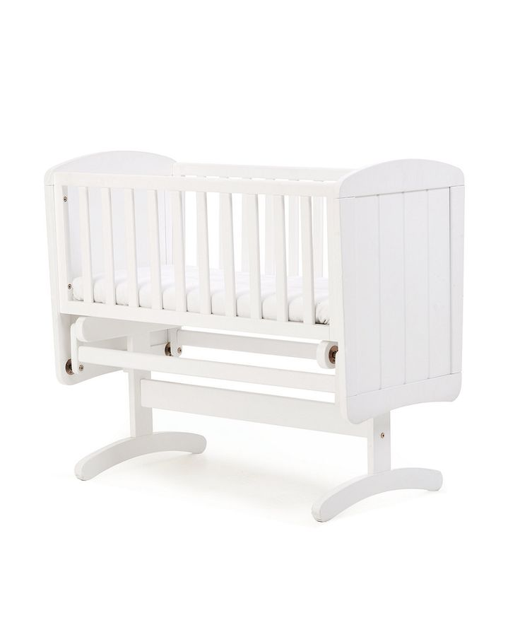 NurserySavings - Mothercare Deluxe Gliding Crib -White, £34.65 (https://www.nurserysavings.com/furniture-nursery/cribs-moses-baskets/mothercare-deluxe-gliding-crib-white/)
