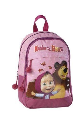 Neem al je speelgoed, schoolboeken en sportartikelen mee in deze nieuwe rugzak van Masha en de beer. De rugzak beschikt over een groot vak en nog een iets kleiner vak aan de voorkant met een rits. Ook is de tas voorzien van verstelbare schouderbladen. Op de tas zijn Masha en haar beer te zien. De tas heeft de volgende afmetingen 35x25x12 cm. en is geschikt voor meisjes vanaf 4 jaar.   Afmeting: 34x12x25 mm - Rugzak Masha en de Beer: 35x25x12 cm