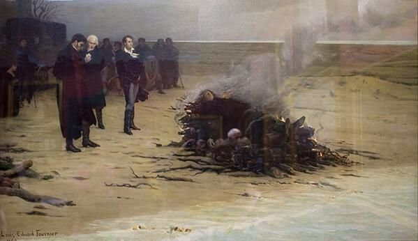 Louis Edouard Fournier「The Funeral of Shelley」(1889)