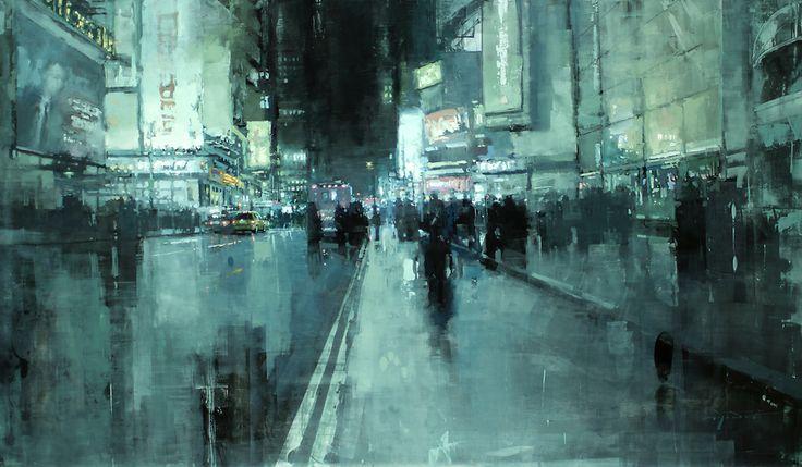 Jeremy Mann, classe 1979, è un pittore realista nato a Cleveland, Ohio. La sua specialità è quella di dipingere atmosfere e paesaggi urbani americani, con