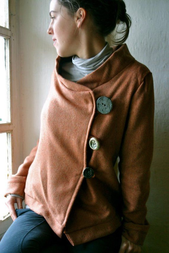 Orange asymmetrical jacket - I really like this and wish it wasn't sold.