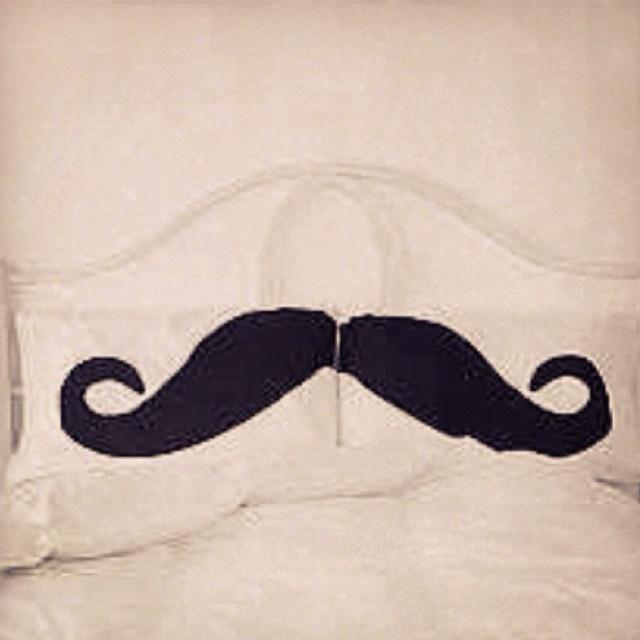 Mustache pillow cases!!!