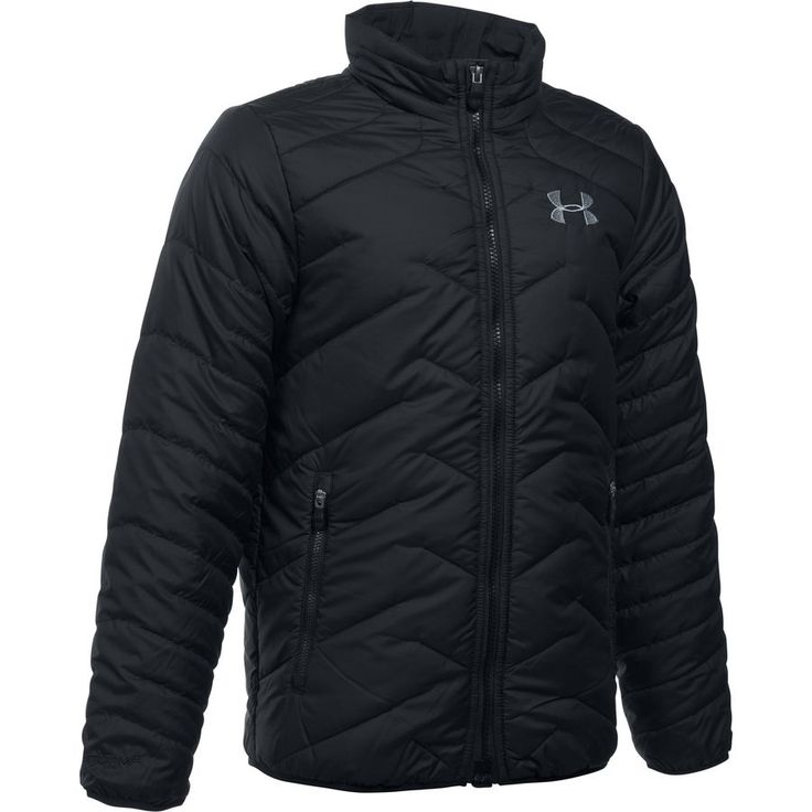 Under Armour - Coldgear Reactor Down Jacket - Boys' - Black/Graphite