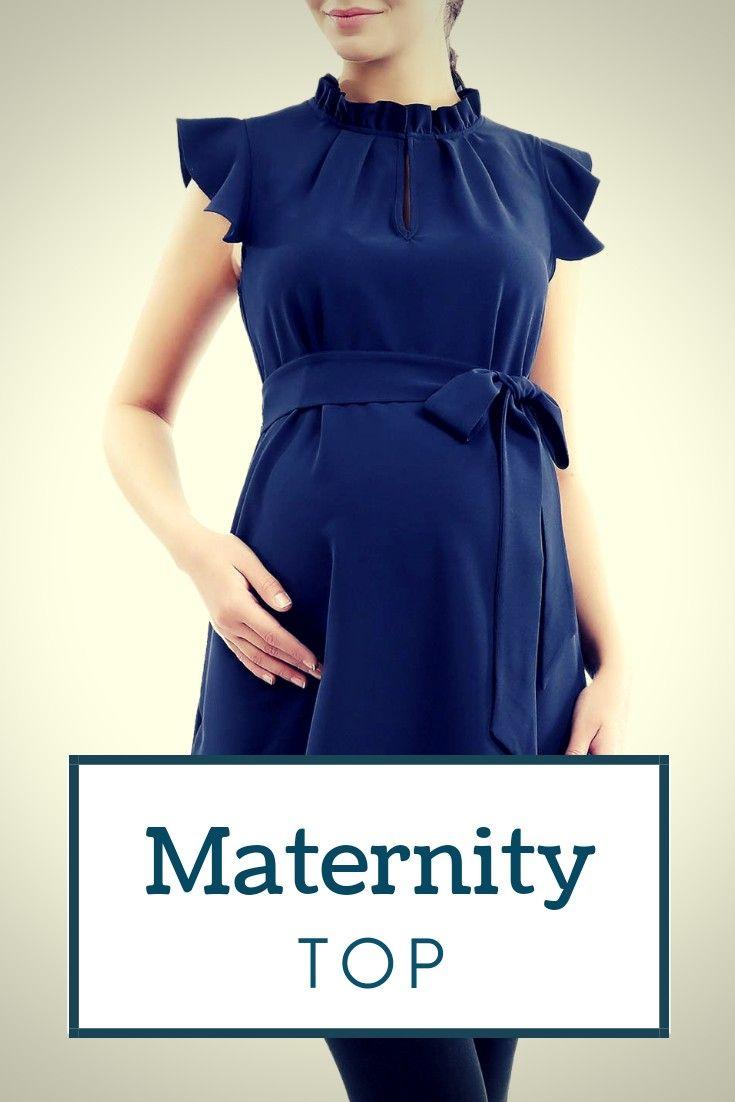 I love this dark blue maternity top. It's so beautiful. #sponsored