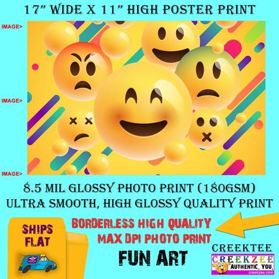 11x17 Poster Photo Print Art Emoji Collage Fun Poster Etsy In 2020 Photo Posters 11x17 Poster Photo Printing