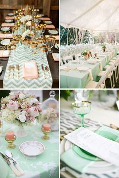 casamento verde menta e rosa - Pesquisa Google