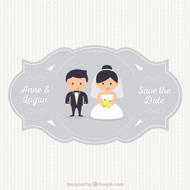 Cute wedding invitation collection vector Wedding invitation cards - fresh wedding invitation vector templates free download