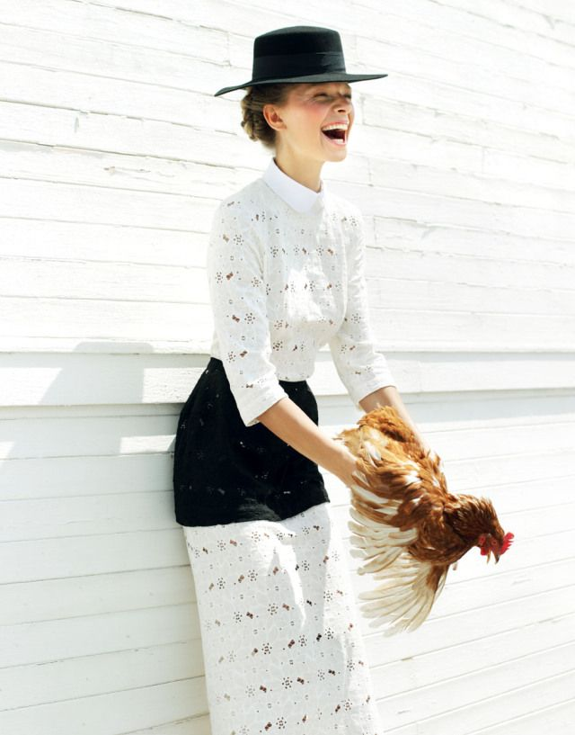 Yuliana Dementyeva Lives the Amish Life for Elle Ukraine August 2013 by Nikolay Biryukov | Fashion Gone Rogue: The Latest in Editorials and Campaigns