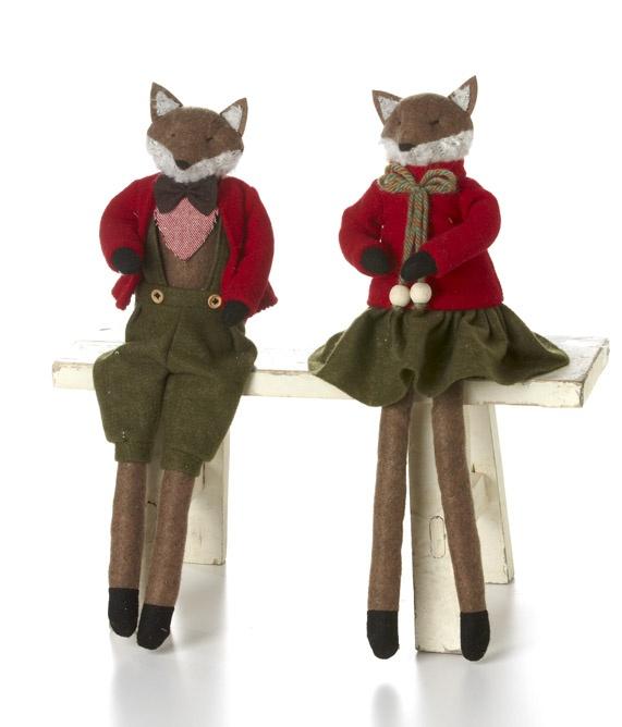"""18""""(9"""") Sitting Fox Boy/Girl-Asst 2"""