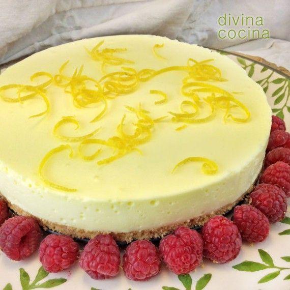 Receta de tarta de limón fácil - Divina Cocina