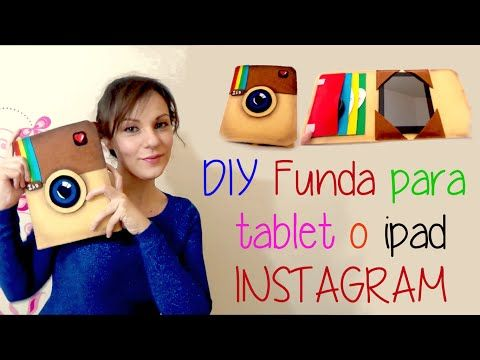 DIY funda protectora para tablet o ipad como el logo de instagram, manualidades faciles - YouTube