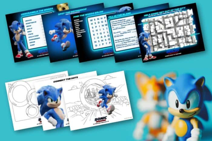 Sonic Coloring Pages Quiz Background