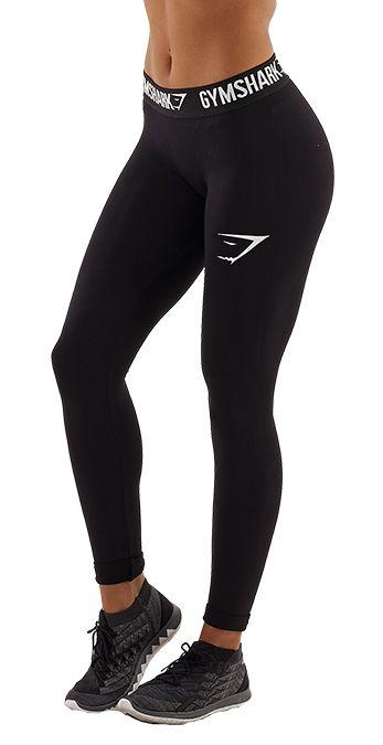Gymshark Form Running Leggings - Black/White - Leggings - Womens