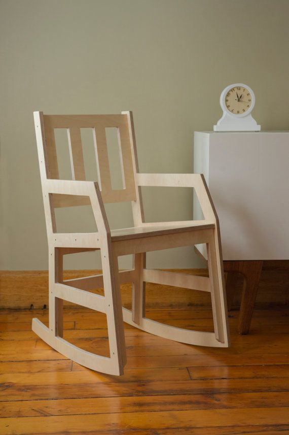 Modern Rocking Chair  Baltic Birch Plywood Rocker door rocketmission, $345.00