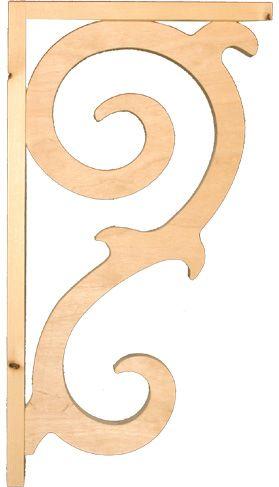Träkonsol Snickarglädje 2 liten - för utsmyckning av farstukvist/veranda. 42x23x4 cm. Välkommen till Sekelskifte och våra klassiska konsoler!
