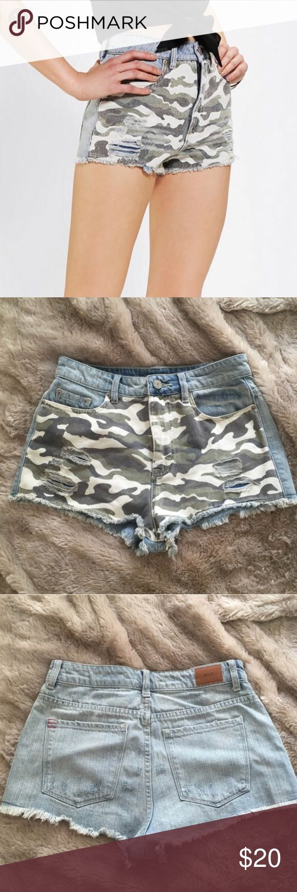 BDG High Rise Army Shorts BDG High Rise Dree Cheeky, Army shorts from Urban Outfitters, perfect pre-used condition, worn once! Urban Outfitters Shorts Jean Shorts