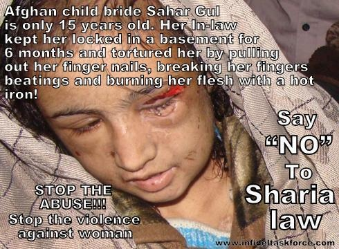 Say no to Sharia Law in any civilised country