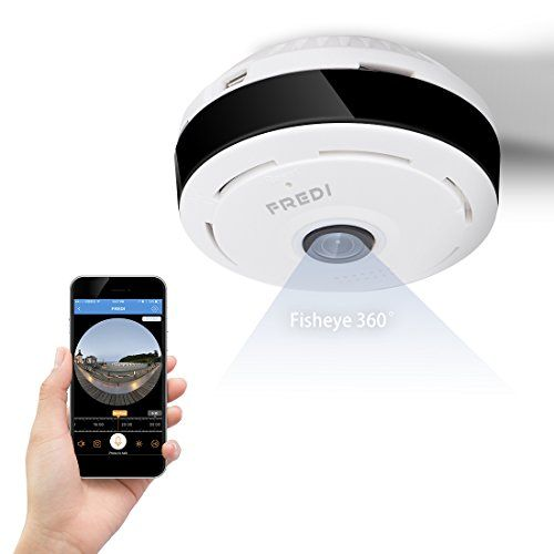 FREDI 960P WiFi IP Security Camera Wide Angle 180360Mini Portable Indoor Hidden Camera with IR Night Vision 2way Audio Motion Detection Loop recording >>> Click image to review more details.