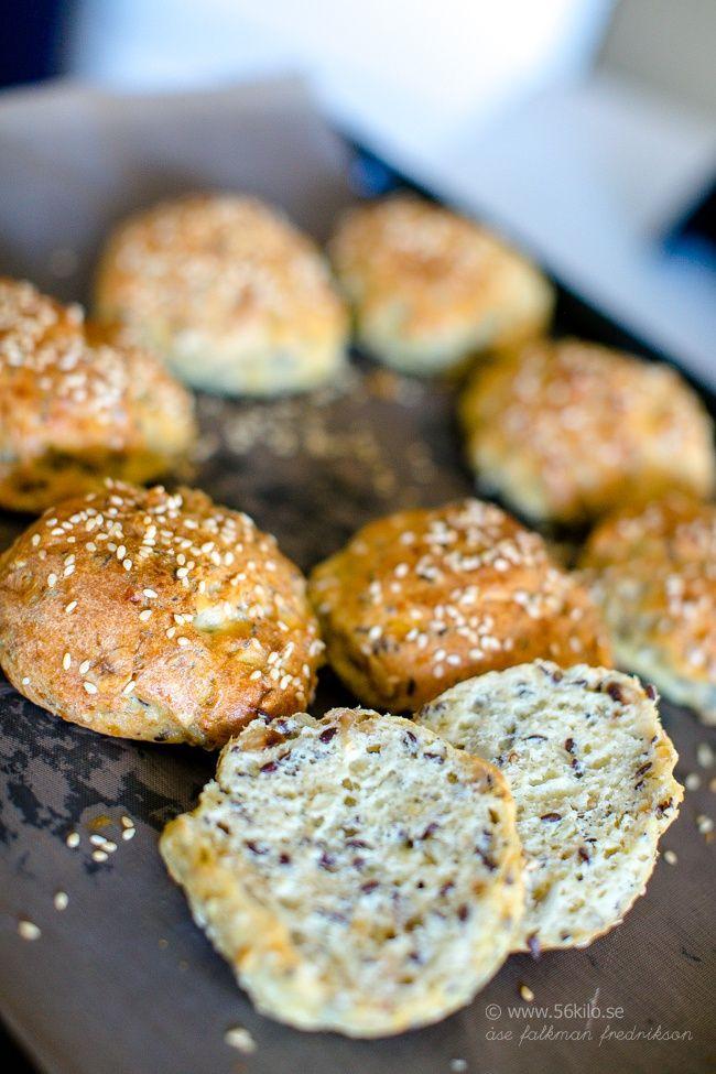 Fröiga Frukostbullar (LCHF, Glutenfritt)