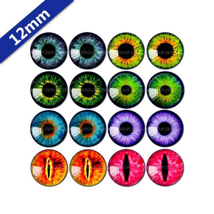 12 мм круглый стекло кабошон глаза фотографии смешанной формы fit база серьги установка для ювелирных изделий flatback 16 шт./лот ER3 купить на AliExpress