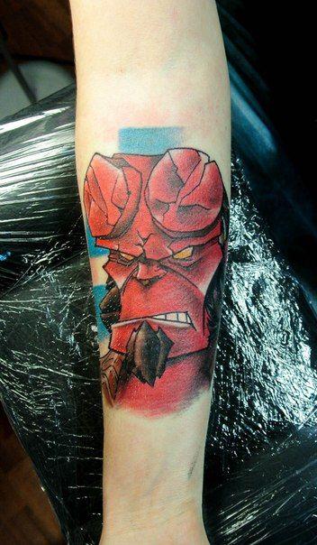 HellBoy by Roman Tverskov #hellboy #tattoo
