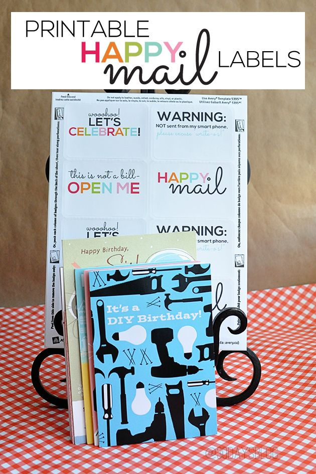 printable happy mail labels