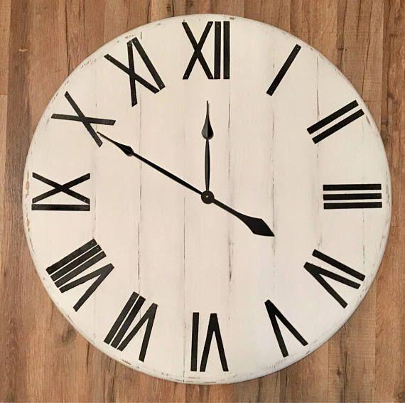 36 Clock Farmhouse Decor Rustic Wall Clock Wall   room dream board ...