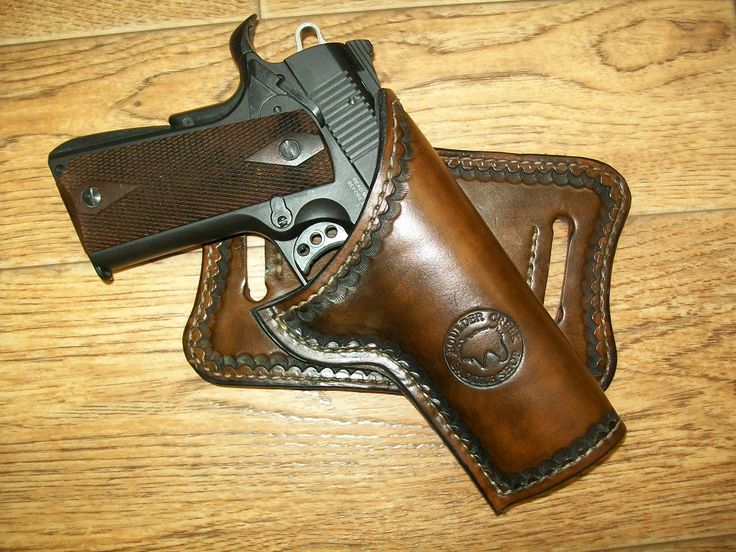 Cross-draw holster for a 1911 pistol made at Boulder Creek Saddle Shop, Kettle Falls, WA