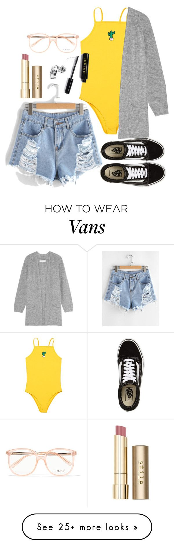 """Untitled #291"" by polyvorepolina on Polyvore featuring Vans, By Malene Birger, Bobbi Brown Cosmetics, Stila and Chloé"