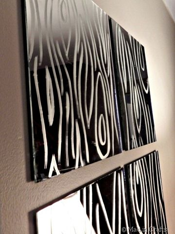 DIY faux bois mirror: Boise Mirror, Faux Mirror, Wood Looks But, Etched Mirror