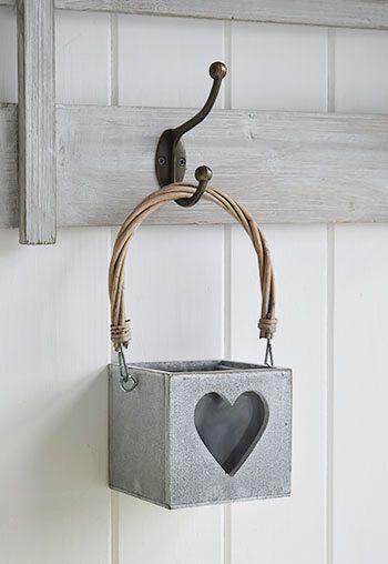 Hanging white lantern tea light holder - The White Lighthouse Accessories
